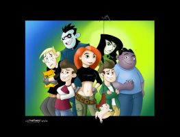 Kim Possible Group Portrait by fantasination