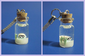 Omanyte in a Bottle Charm by minnichi
