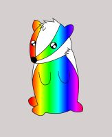 badger of rainbows by shadow-in-the-wind14
