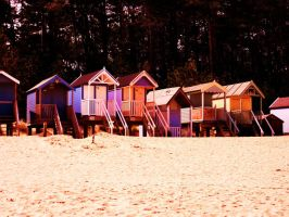beach huts again and again by Toiger