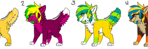 Auction/ Draw to Adopt scene dogs by labramazing