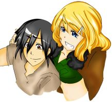 Piri and Ame Gender bent :) by KarinSan01
