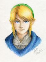 Blue eyes, golden hair by RealTRgamer