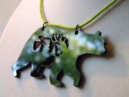 Bear Necklace by pronouncedyou