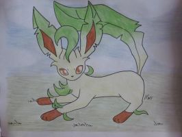 Leafeon by FlareAKACuteFlareon