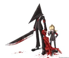 Pyramid Head and Laura by sachsen