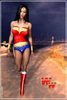 Wonder Woman 3D by Sandmarine