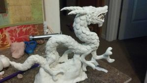 WIP Dragon sculpy by LimitlessDreamer