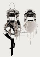 Art outfits home work 05 by Alzheimer13