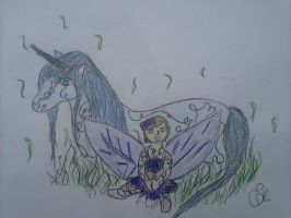 Unicorn with Fairy by EricaD218