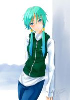 Aqua in Casual Style (Without Glasses) by Aquamarine-39