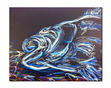 Last Breathe - Oil Pastel Drawing by SamIamArt