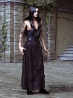 Gothic Leather Skirt by RissingFlower