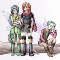 Lorant and Elves by Kordi