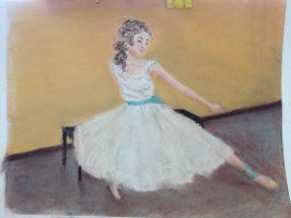 Dancer with Turquoise Bow by a1clairebear