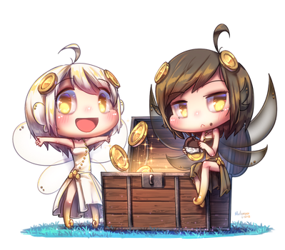 [Commission] Coin Fairies by Porforever