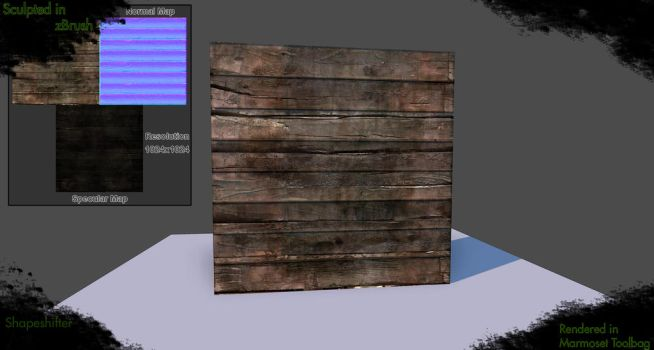 Wood Rough Texture by ShapeshifterFX