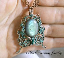 Moth Pendant by blackcurrantjewelry