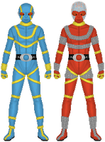 Kikaider Halves by Taiko554