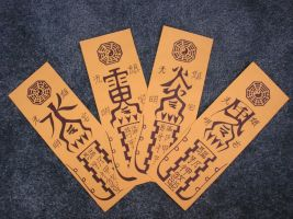 Li Syaoran's magic scrolls by SojiOkage
