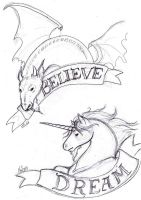 Believe In Dreams T-shirtWIP by Miss-Melis