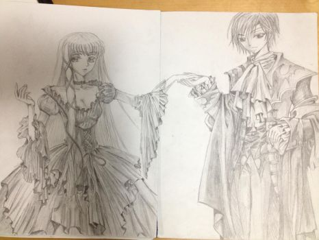 C.C. and Lelouch~ by BlazingElysium