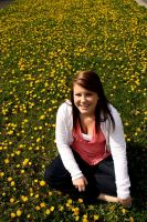 Sitting In Dandelion Fields by ClaireErdal