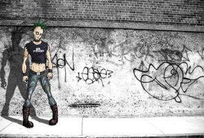 Punk in the street by Antoinex