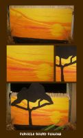 Particleboard sunset by Zivrezcara