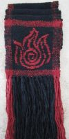 Fire Bending Scarf -- Alt. View by ashesonfire