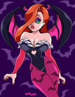 JESSICA RABBIT as MORRIGAN by AnyaUribe