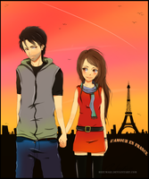 love in france by HizuMaki
