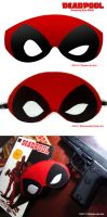 Deadpool Sleeping Eye Mask by chloebs