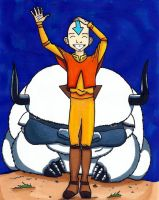 Appa and Aang by Mazdi