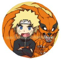 Naruto Button by Cahoon