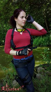Claire Redfield Revelations 2 sniper cosplay VIII by Rejiclad