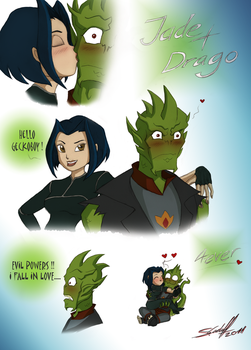Jade and Drago by Hevimell
