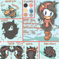 Alex the Hedgehog ref. sheet by chibiirose