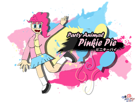 Party Girl-Pinkie Pie T-Shirt Version by CreativeArtist-Kenta