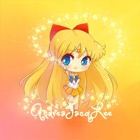 Sailor Venus Chibi Sticker by AndreaJacqLee