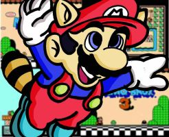 racoon mario with backgrounds by jarn