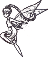 Fawn Tinkerbell Coloring Page by Utaleasha
