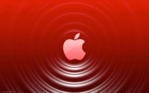 Red Apple - Ripple Effect by Seans-Photography