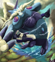 Therian forme Thundurus by Phatmon