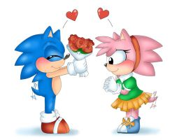 sonamy happy valentine by yukixtails