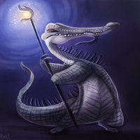 DAY 156. Shaman Croc (25 Minutes) by Cryptid-Creations