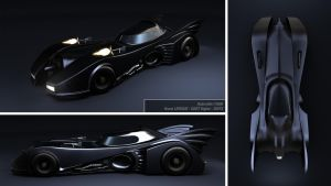 Batmobile - 1989 by bruno-leveque