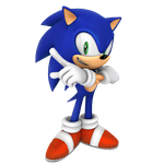 Dreamcast Era Sonic Cross Pose render by Nibroc-Rock