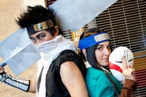 Haku and Zabuza @ San Japan 6 by akaolive