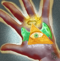 All seeing eyes energy by Ohthehumanityplz